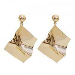 Chic Simple Solid Paillette Geometry Shaped Earrings -