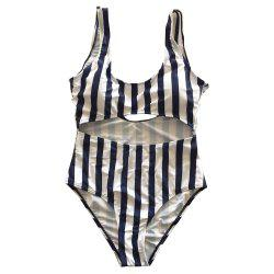 SleeWlM Printing One-Piece Swimsuit Parent-Child Outfit Mother Stripe -