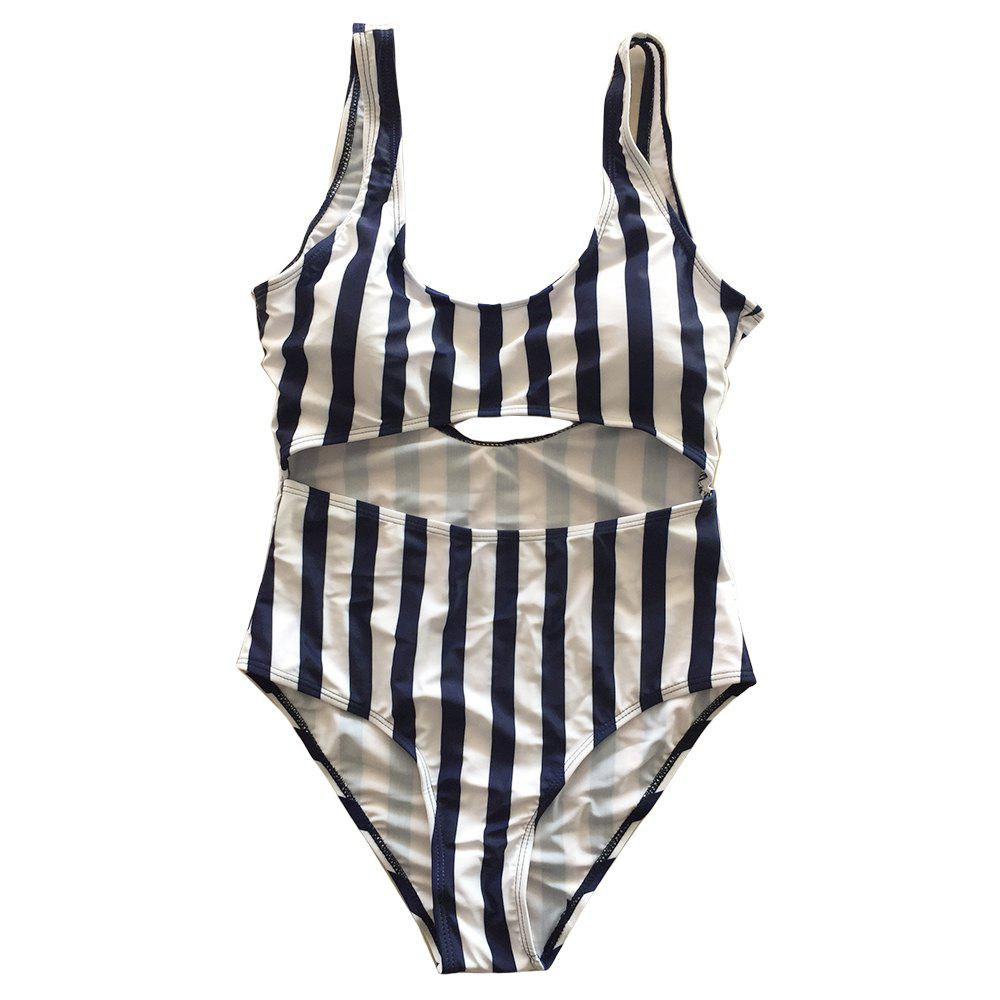 Outfit SleeWlM Printing One-Piece Swimsuit Parent-Child Outfit Mother Stripe
