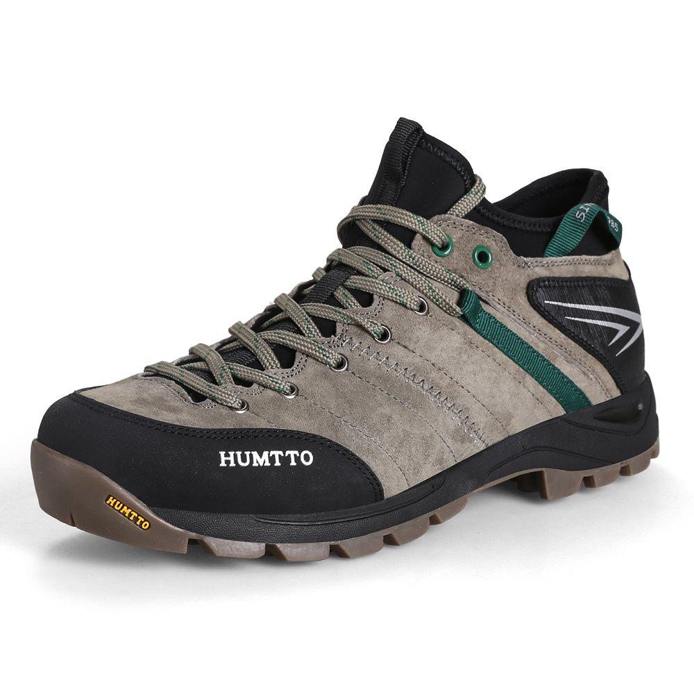 Sale HUMTTO Men Outdoor Lace-Up Tactical Trekking Hiking Shoes EU Szie 39-45