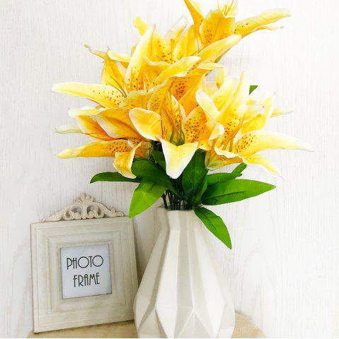 Artificial flowers cheap best discount artificial wedding flowers yellow lily home decoration artificial flowers mightylinksfo