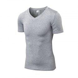 Men's V-neck PRO Fitness Running Quick-drying T-Shirt -