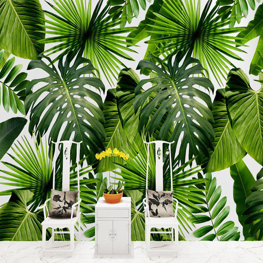New green big leaves wallpaper wall sticker mural