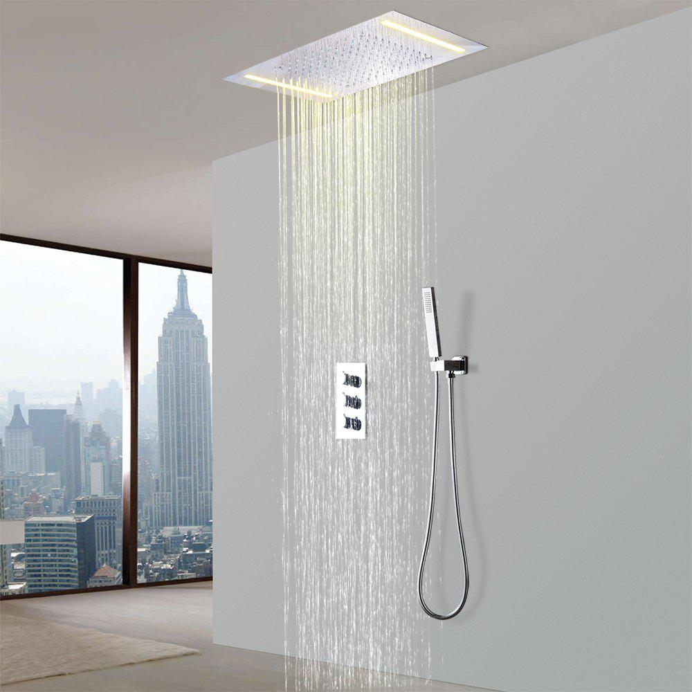 Silver Hpbge Led Bathroom Shower Faucet Set System | RoseGal.com