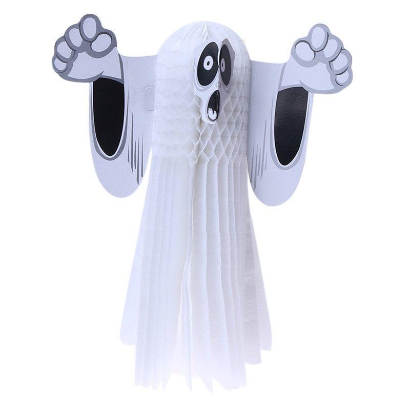 Online Paper Hanging Ghost Shroud Door Hanger Foldable Fun White Halloween Party Props