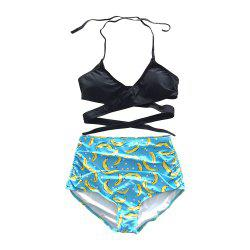 SleeWlM Printing Parent-Child Swimming Suit Outfit Mom Separates -