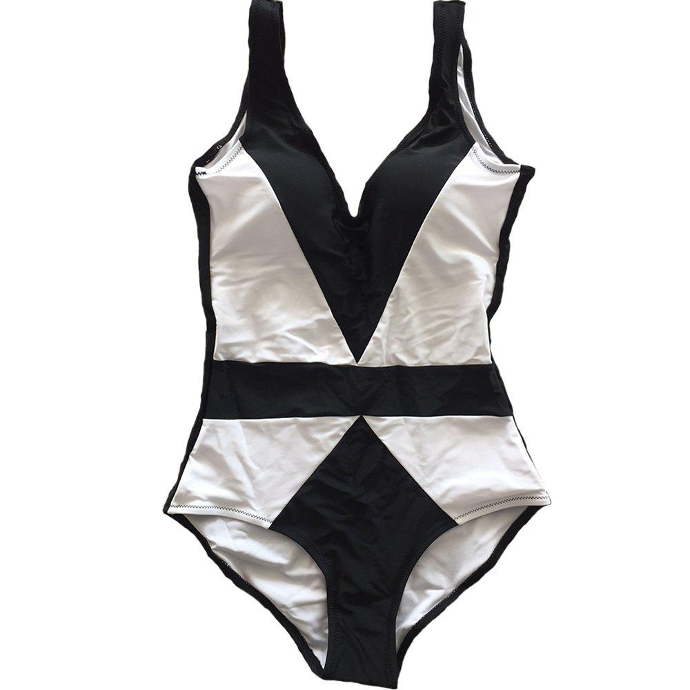 Shop SleeWlM Printing One-Piece Swimsuit Parent-Child Outfit Two-Tone Joint Mom