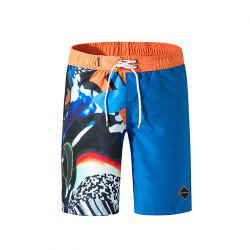 Tailor Pal Love Male Digital Printing Quick-Drying Leisure Beach Pants -