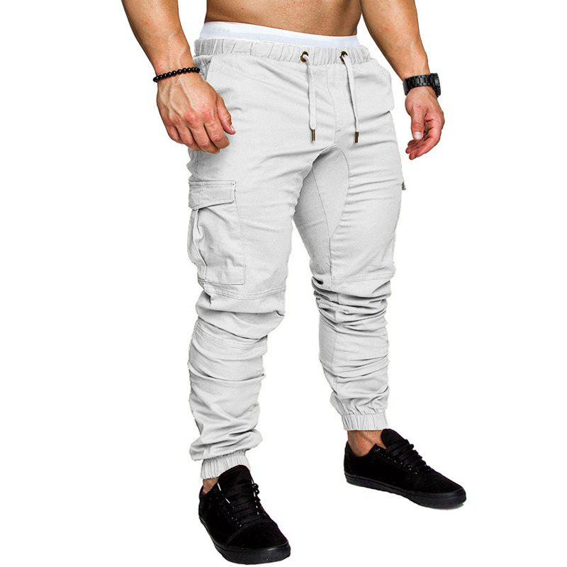 Hot Men Casual Elastic Sports Trousers Large Size