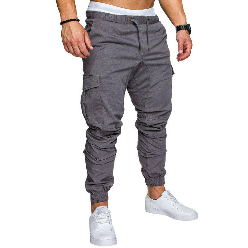 Sale Men Casual Elastic Sports Trousers Large Size
