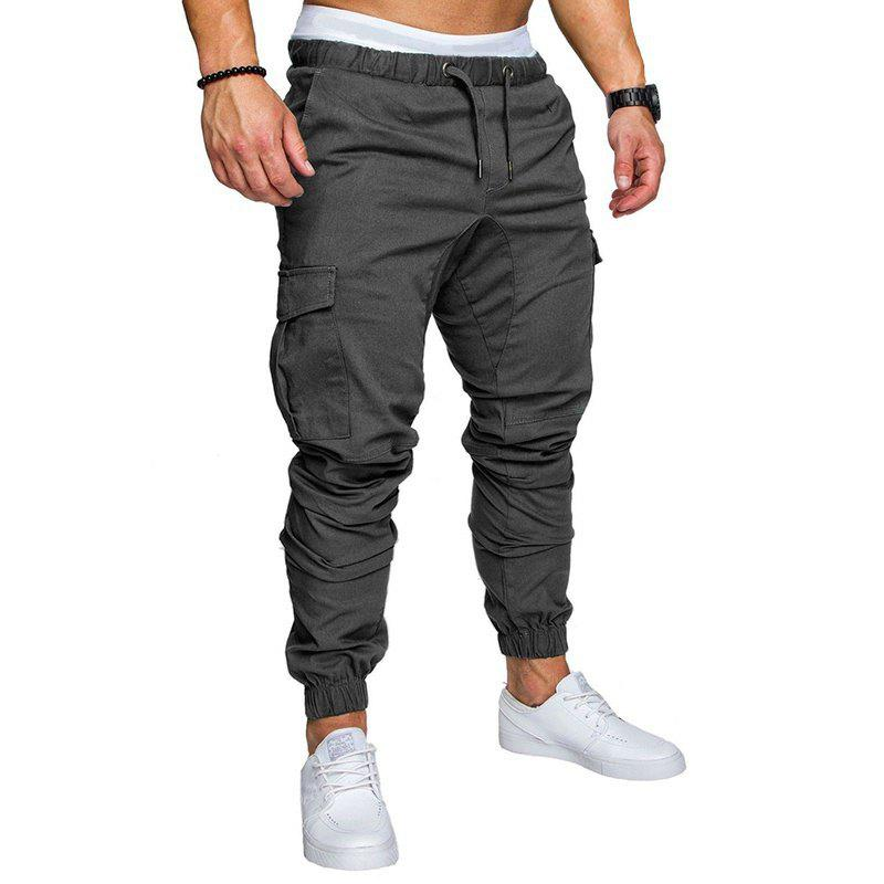 Discount Men Casual Elastic Sports Trousers Large Size