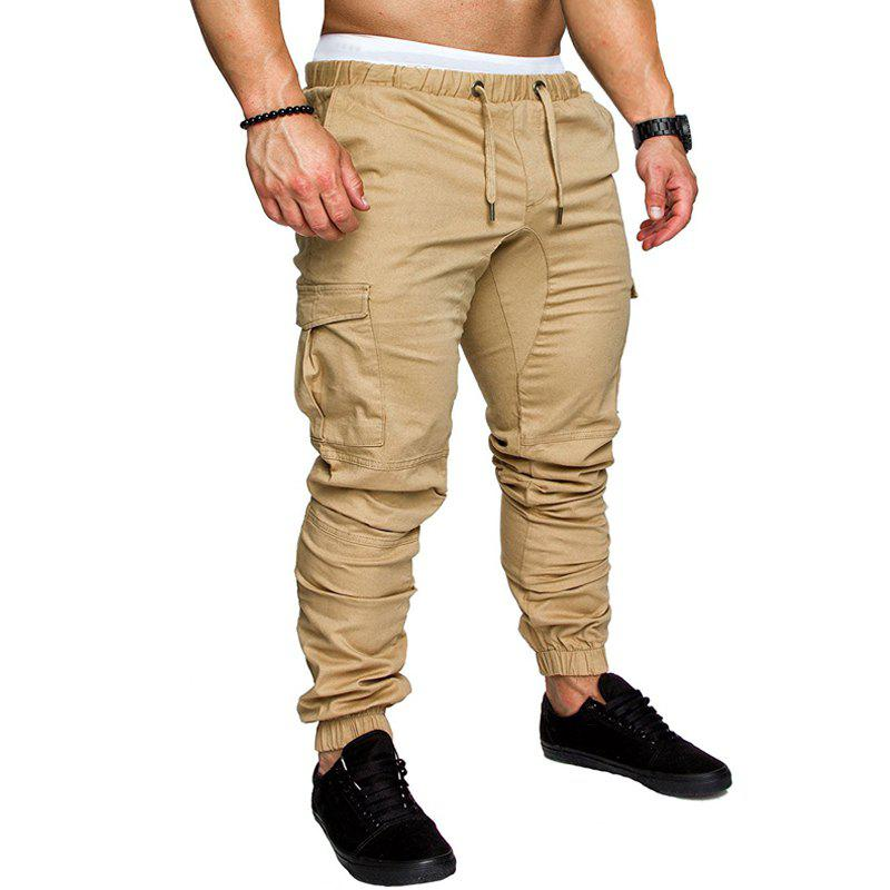 Online Men Casual Elastic Sports Trousers Large Size