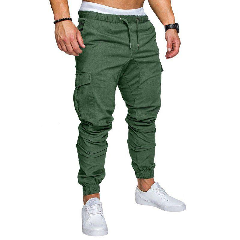 Cheap Men Casual Elastic Sports Trousers Large Size