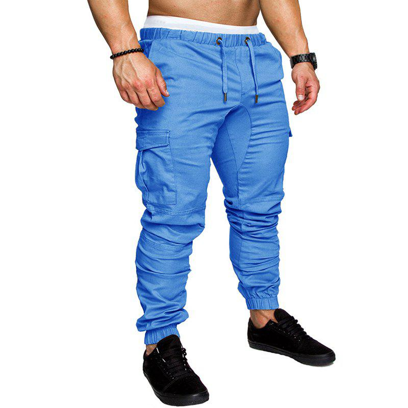 Latest Men Casual Elastic Sports Trousers Large Size