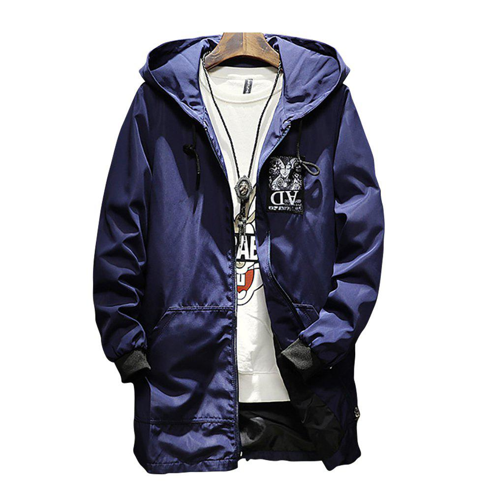 Buy Men Hooded Solid Color Print Jacket