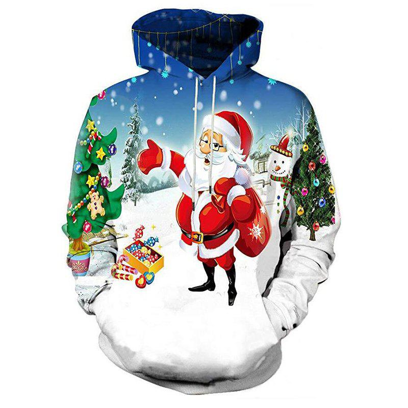 photo relating to Santa Claus Printable Pictures referred to as Adult men Everyday 3D Print Santa Claus Xmas Print Hoodie