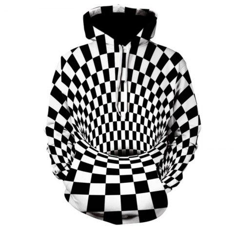 7aa54d4a7c4 Men s Plus Size Basic Exaggerated Long Sleeve Loose Hoodie 3D Animal Prin  Hooded