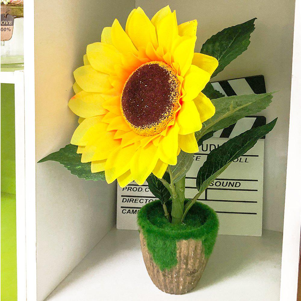 Sale Sunflower Potted Plant County Style Home Decoration Artificial Flower