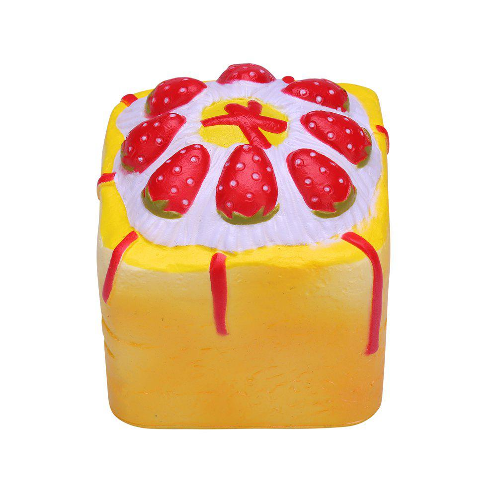 Fancy Squishy Square Cake Cute Cream Scented Very Slow Rising Gift Stress Relief Toy