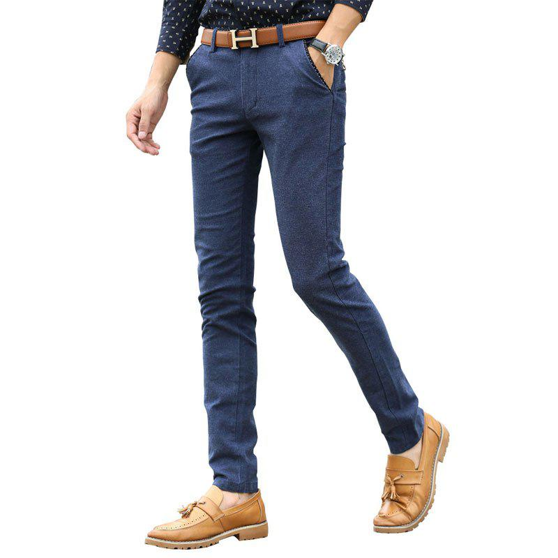 c7008f25b2d 2019 Men Clothing Autumn Business Casual Pants Micro Style Trousers ...