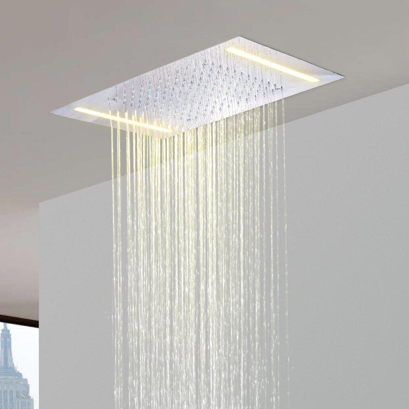 Hpbge LED Shower Head Stainless Steel 304 110V~220V Alternating Current