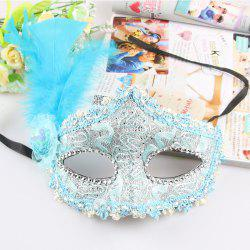 Кружевное перо Fancy Dress Ball Mask Girl Half Face Ball Head -