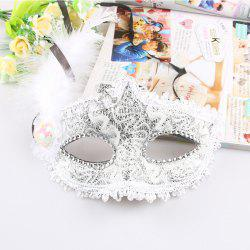 Dentelle Feather Dress Masque De Bal Fille Demi Visage Ball Head -