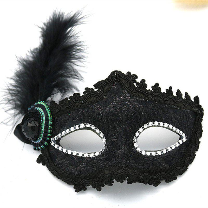 Discount Lace Feather Fancy Dress Ball Mask Girl Half Face Ball Head