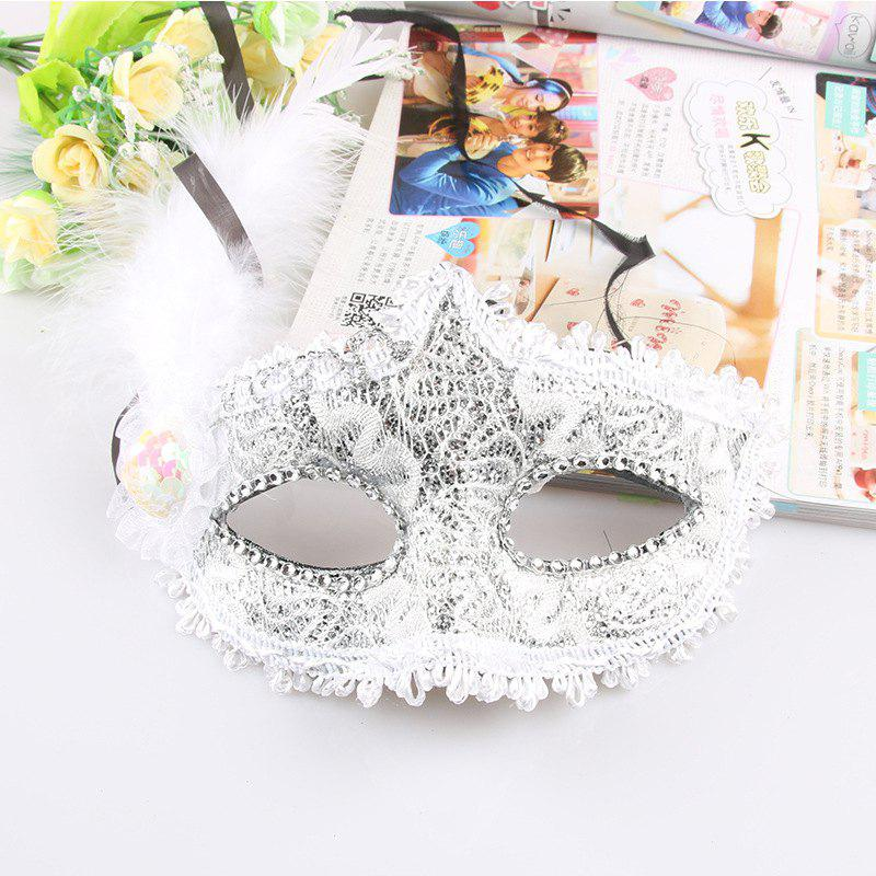 Sale Lace Feather Fancy Dress Ball Mask Girl Half Face Ball Head