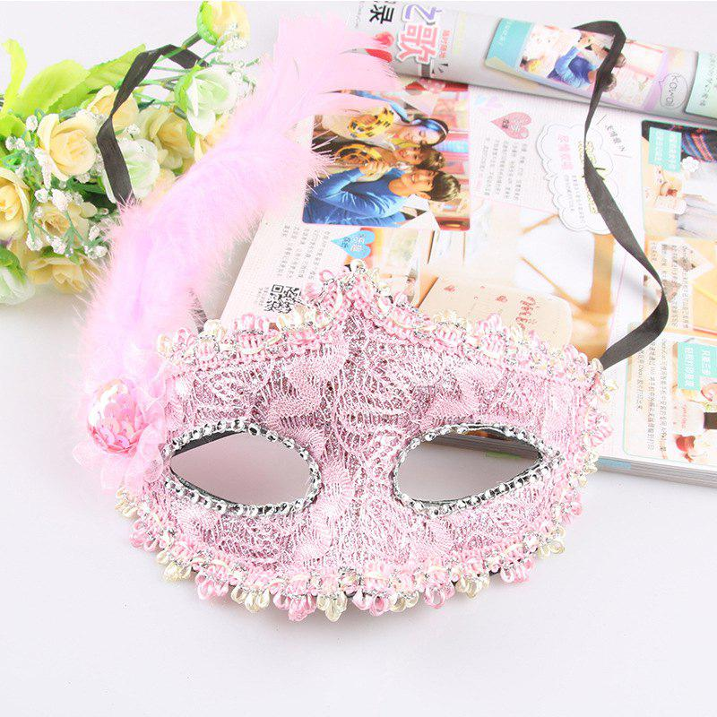 New Lace Feather Fancy Dress Ball Mask Girl Half Face Ball Head