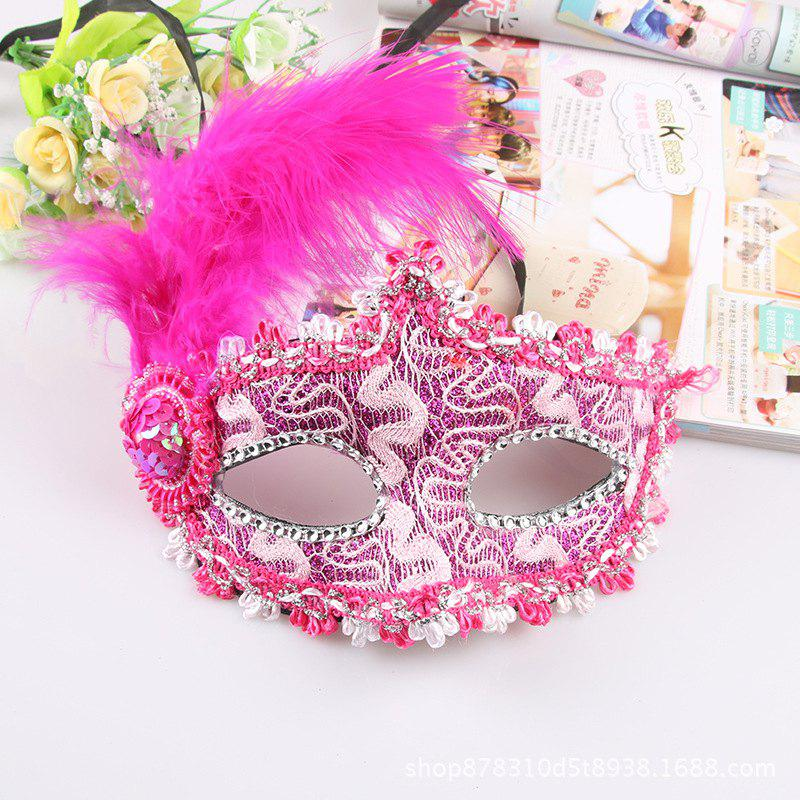 Кружевное перо Fancy Dress Ball Mask Girl Half Face Ball Head