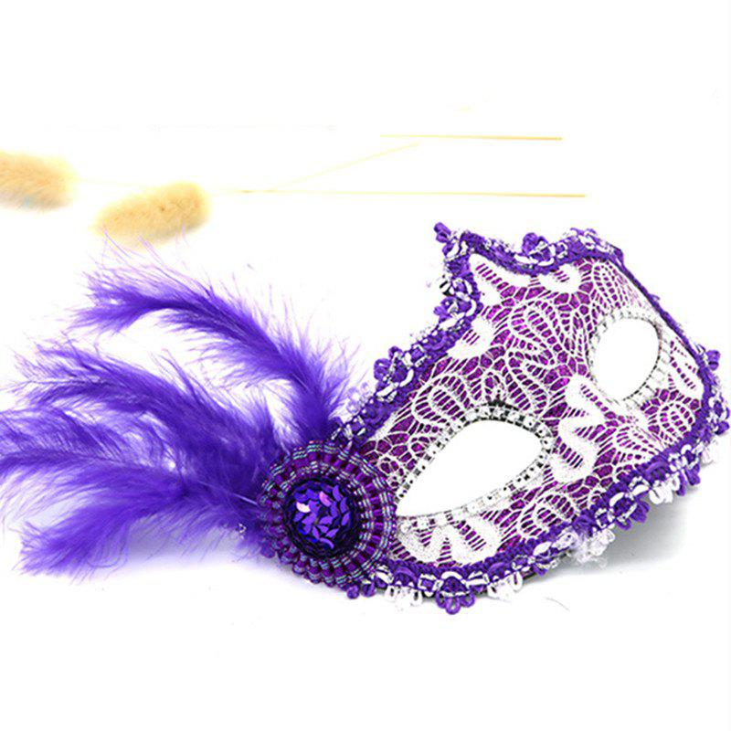 Cheap Lace Feather Fancy Dress Ball Mask Girl Half Face Ball Head