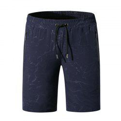 Men Summer Elastic Fabric Casual Pants Printing Quick-Drying Beach Shorts -