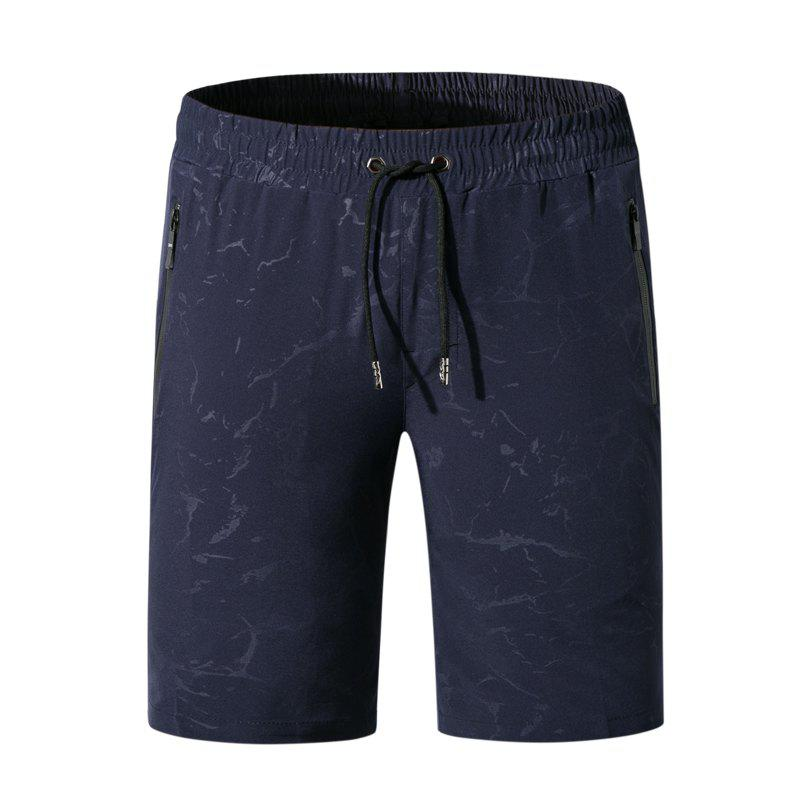 Trendy Men Summer Elastic Fabric Casual Pants Printing Quick-Drying Beach Shorts
