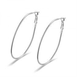 Fashion Trend Personality Big Ring Earring Girl -