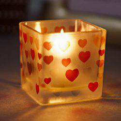 Heart Pattern Glass Candle Holder Wedding Party Home Decorations -