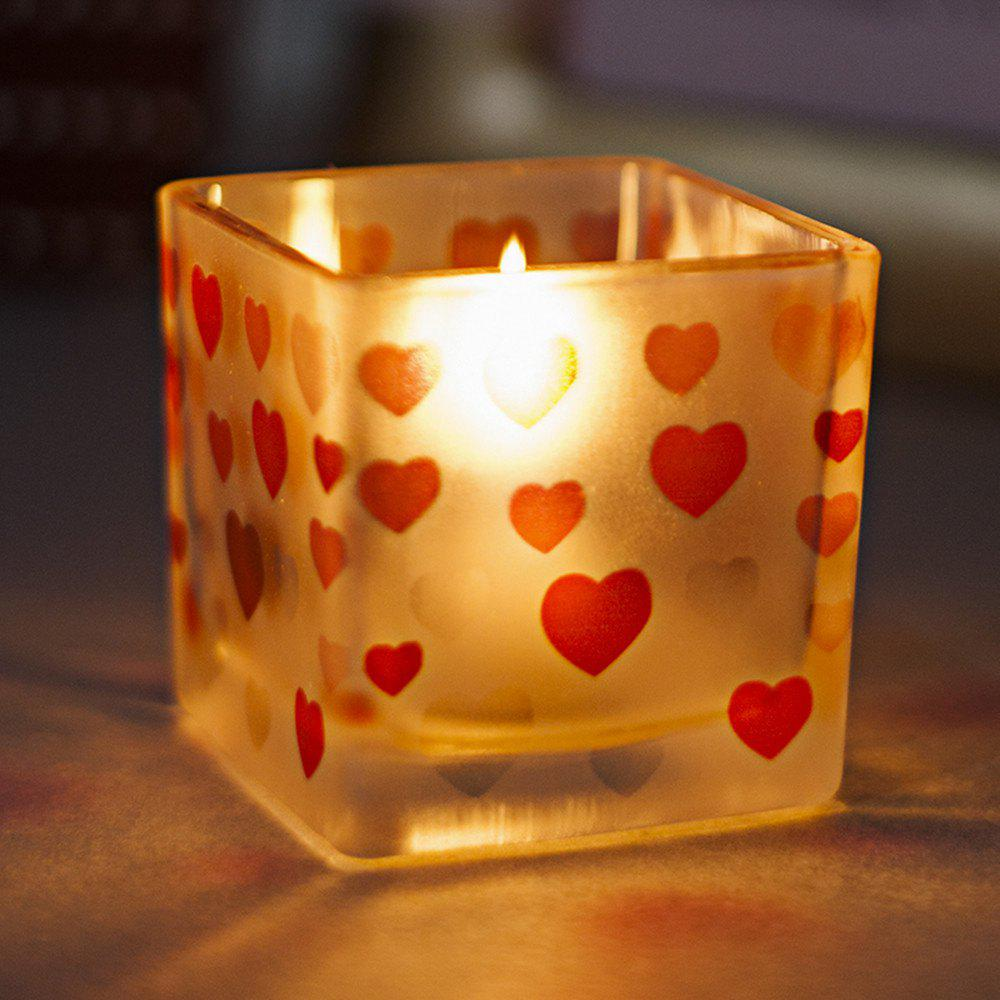 Trendy Heart Pattern Glass Candle Holder Wedding Party Home Decorations