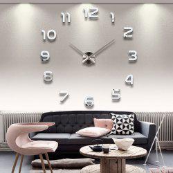 Personalized Big Wall Clock Acrylic Mirror Modern Home Decoration -