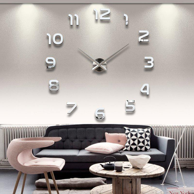 Outfits Personalized Big Wall Clock Acrylic Mirror Modern Home Decoration