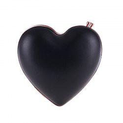 Women'S Peach Heart Shaped PU Evening Bag -