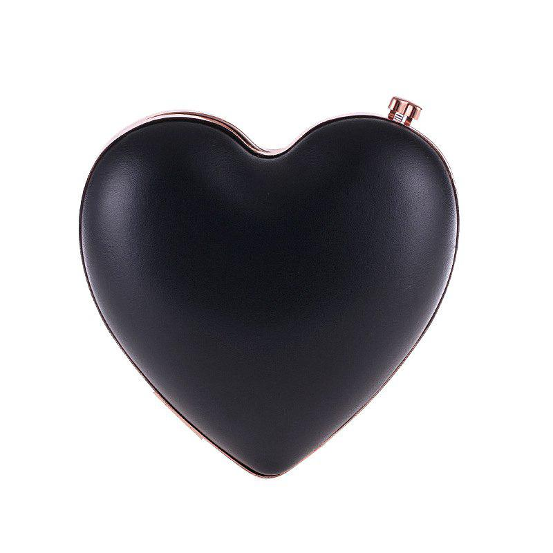 Store Women'S Peach Heart Shaped PU Evening Bag