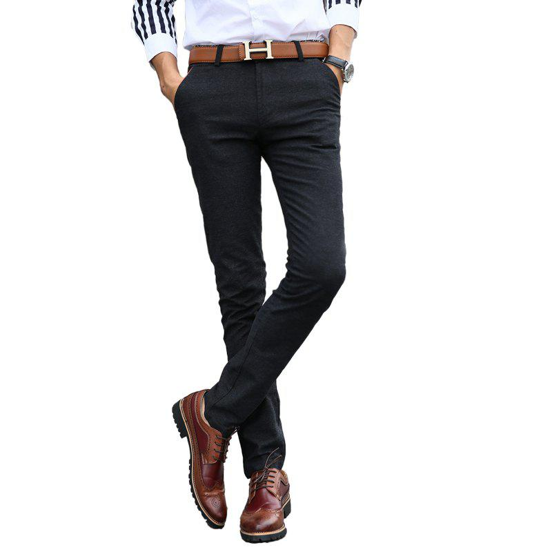 f694853cfa0 Store Fashionable Men Clothing Autumn Solid Color Small Feet Business Casual  Pants