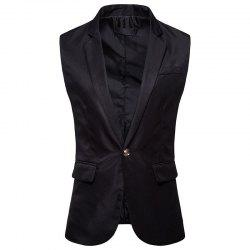 Men's  Single Button Type Long Suit Vest -