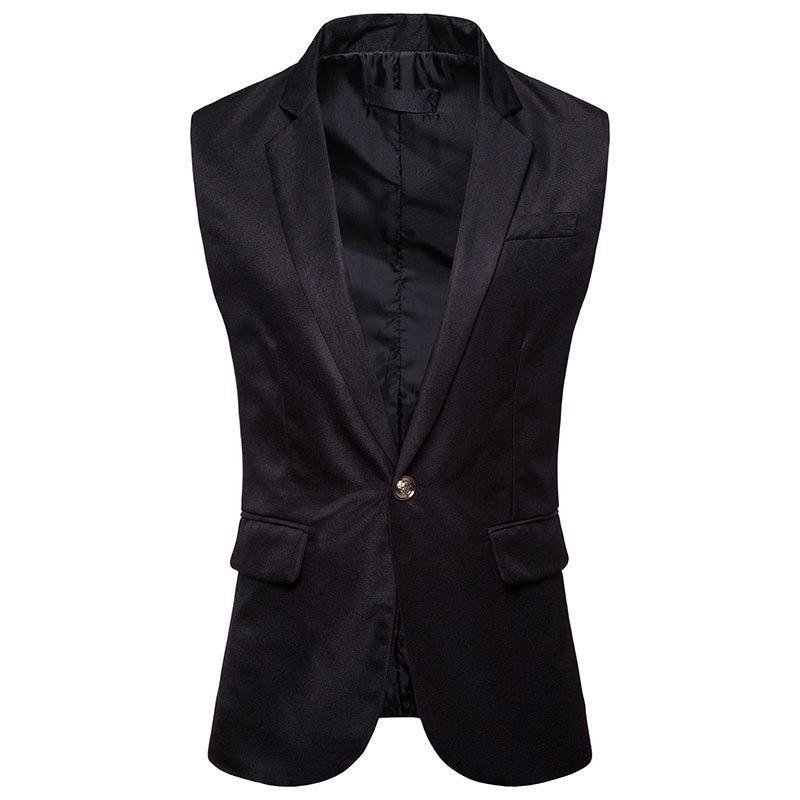 Trendy Men's  Single Button Type Long Suit Vest