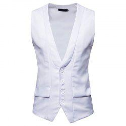 Men's Fashion Single-Breasted Design Vest -