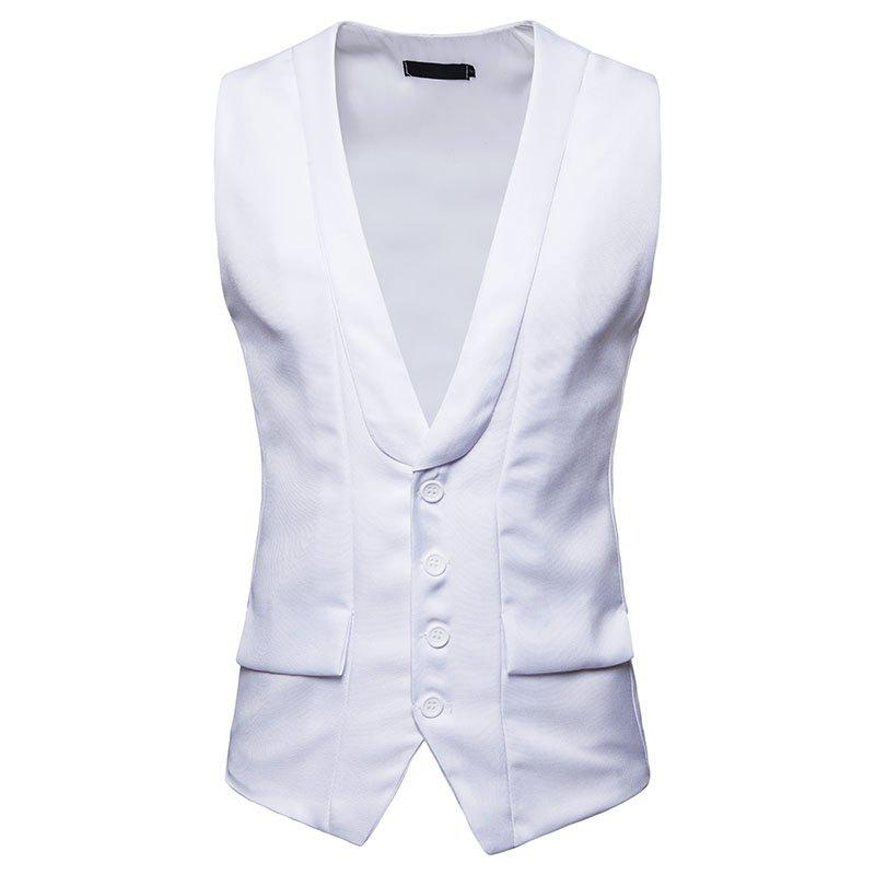 Chic Men's Fashion Single-Breasted Design Vest