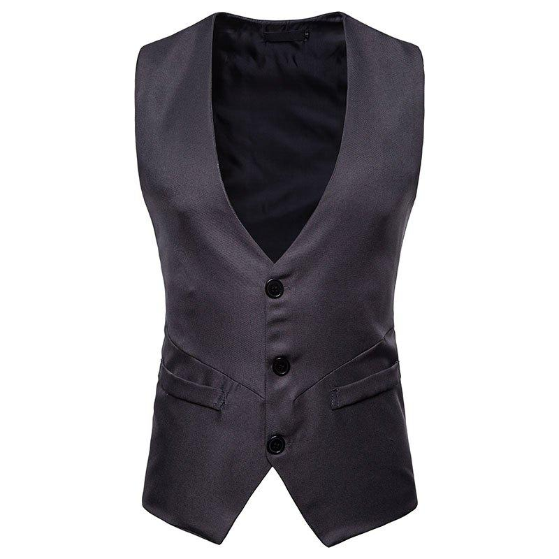 Discount Men's Fashion Casual Short Vest