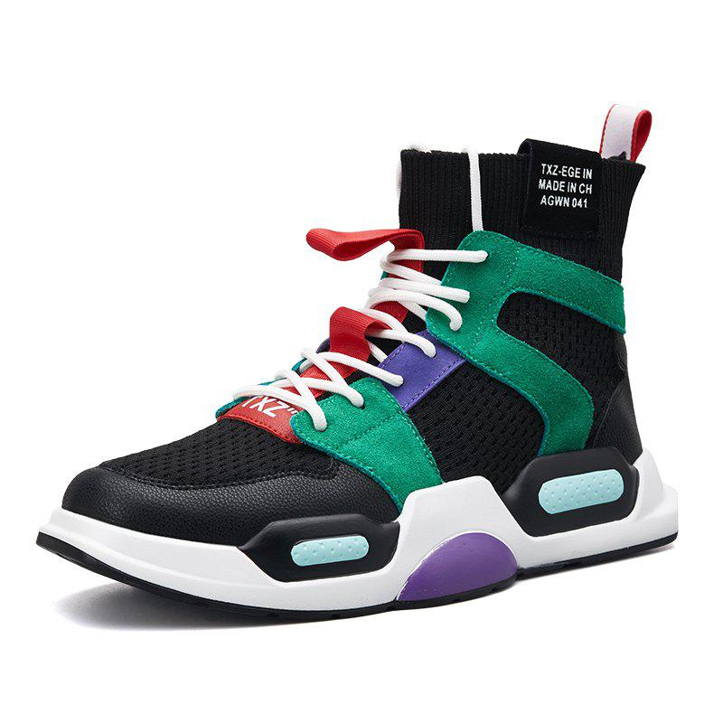 Buy Men'S High-Top Breathable Fashion Trend Sports Shoes