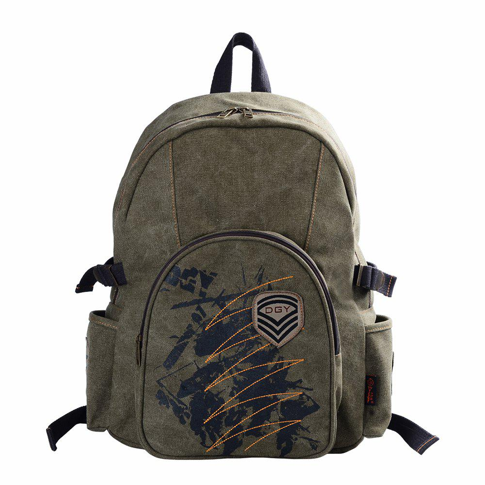 Store DouGuYan Canvas Backpack for Men Personality Trend 14 Inch Computer  Bag ded16611ce5