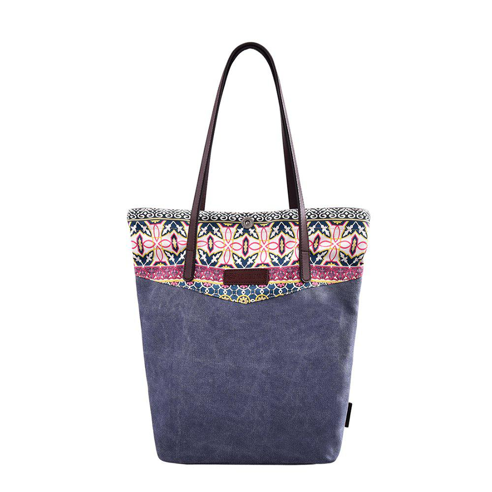 fea6e537e Unique Douguyan Womens Casual Floral Printed Handbag Shopping Canvas Tote  Bag G62805